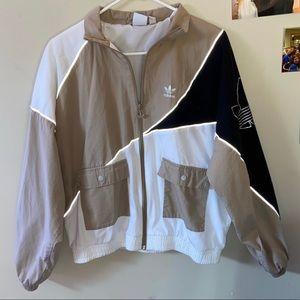 ADIDAS Woman's injection track jacket: Khaki